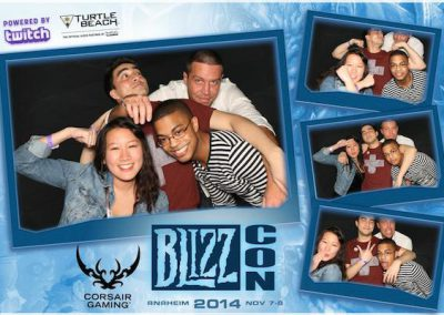 Photo booth sample photo for blizzcon